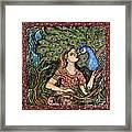 Peacock Girl Framed Print