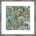 Peacock Shell Pattern Abstract Framed Print
