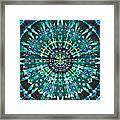 Peacock Throne Mandala Framed Print