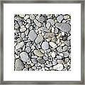 Pebble Background Framed Print