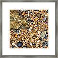Pebbles And Sand Framed Print