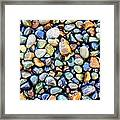 Pebbles Galore Framed Print
