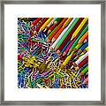 Pencils And Paperclips Framed Print