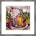 Peonies Framed Print by Barbara Pirkle