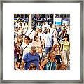 People In New York Framed Print