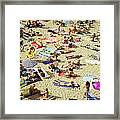 People In The Beach Framed Print