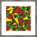 Peppers And Tomatos Framed Print