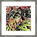 Peppers By The Bushel Framed Print