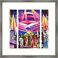 Phish New York For New Years Triptych Framed Print by Joshua Morton