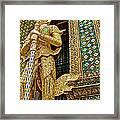 Phra Mondhop At Thai Pagoda At Grand Palace Of Thailand In Bangkok  Framed Print