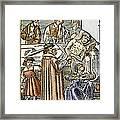 Physician & Plague Victim Framed Print