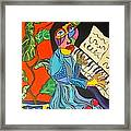 Piano Lady Framed Print