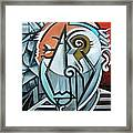 Picasso Bust Framed Print
