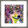 Picture Perfect Poodle  Framed Print by Eloise Schneider