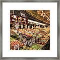 Pike Place Veggies Framed Print
