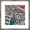 Piles Of Engines - Automotive Recycling Framed Print by Crystal Harman