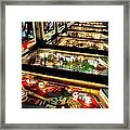 Pinball Arcade Framed Print by Benjamin Yeager