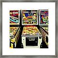Pinball Past Time Framed Print