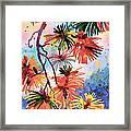 Pine Needle Fireworks Framed Print