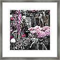 Pink Flower Arrangements Framed Print by Elena Elisseeva