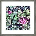 Pink Flowers Painting Framed Print