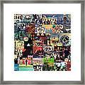Pink Floyd Collage II Framed Print by Taylan Apukovska