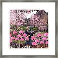 Pink New Year Greeting Framed Print