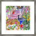 Pink Stairs Framed Print