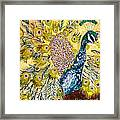 Pistacio Peacock Framed Print