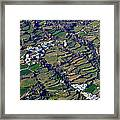 Pitres And Capilerilla From The Air Framed Print