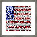 Pixel Flag Framed Print