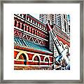 Plane In The City Framed Print