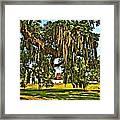 Plantation Oil Framed Print