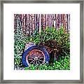 Planted Wheel Framed Print
