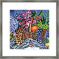 Plastic Fruits And Flowers Framed Print