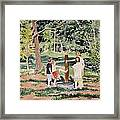 Playing At The Pump Framed Print