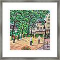 Playing Boules At Betty's Cafe- Harrogate Framed Print