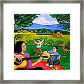 Playing Melodies Under The Shade Of Trees Framed Print