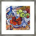 Plums Apples Framed Print