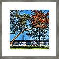 Plymouth Harbor In Autumn Framed Print