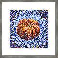 Pointillism Pumpkin Framed Print