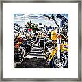 Police Motorcycle Lineup Framed Print