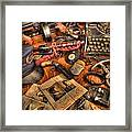 Police Officer- The Detective's Desk II Framed Print by Lee Dos Santos