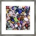 Polished Gemstones Framed Print