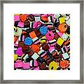 Polka Dot Colorful Candy Framed Print