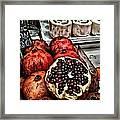 Pomegranates In Open Market Art II Framed Print