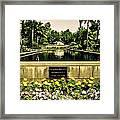 Pool At Nixon Library  Framed Print