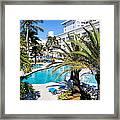 Poolside 01 Framed Print