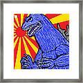 Pop Art Godzilla Framed Print by Gary Niles