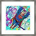 Pop Art Superman Framed Print